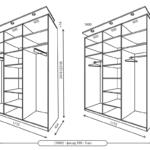 Размеры 3-хдверных шкафов